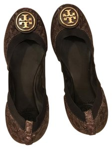 Tory Burch Metallic bronze Flats