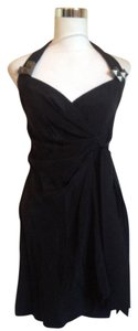 Vena Cava Wrap Silk Strappy Crisscross Strap Sleeveless Dress