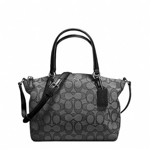 Coach Satchel in Black Smoke / Black