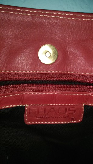 Chaos Leather Satchel in RED