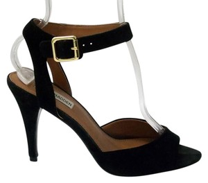 Steve Madden Stowick Suede Ankle Strap Heels Evening Black Sandals