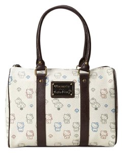 Loungefly Tote in Beige w/brown handles