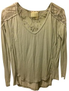 Free People Xs Made In India Top Light Grey