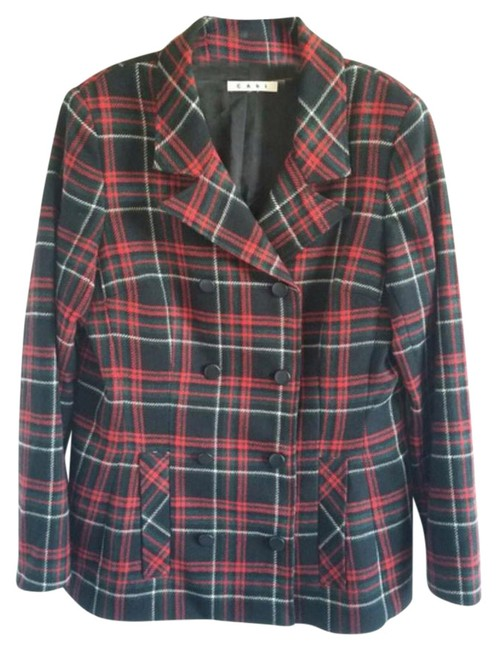Item - Red Multi Nwot Plaid Jacket Coat Size 12 (L)