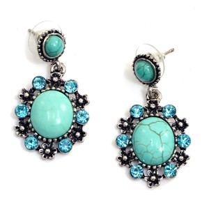 Other Flower Child Turquoise Stone Earrings