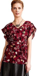 Anthropologie Rose Garden Kimono Top Multi