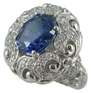 Victoria Wieck Victoria Wieck 4.83ct Absolute Tanzanite-Color Filigree Ring - Size 7