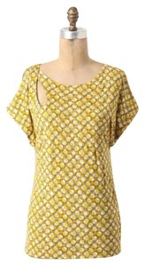 Anthropologie T Shirt Yellow and Grey