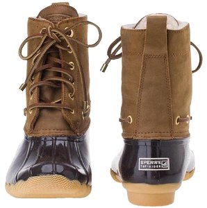 Sperry Shearling Snow Boot Winter Tan Brown Boots