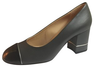 Chanel Black and Gray Pumps