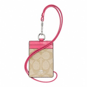Coach Signature Lanyard ID Case