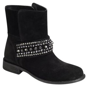 5/48 Studded Rocker Suede Black Boots