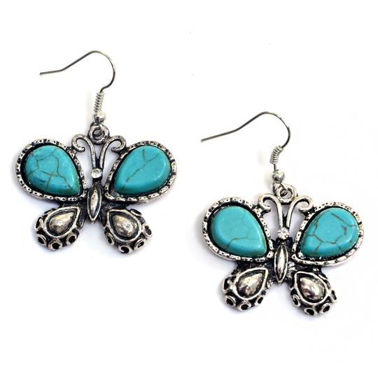 Preload https://img-static.tradesy.com/item/20525610/turquoise-stone-butterfly-chandelier-with-tiger-eye-earrings-0-0-540-540.jpg