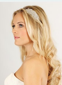 Beaded Silver Side Tiara