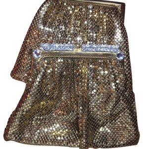 Whitney and Davis Mesh Purses gold tone Clutch
