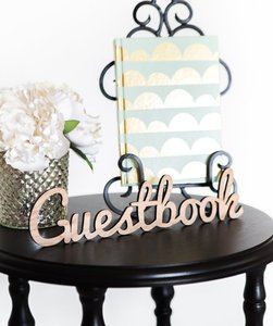 Rose Gold/gold Guestbook Sign