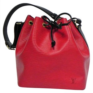 Louis Vuitton Epi Leather Two-tone Rare Tote in Red, Black