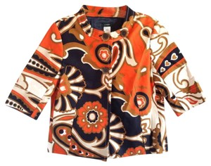 J.Crew Paisley Crop Spring Orange/Multi Jacket