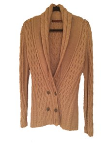 Comptoir des Cotonniers Long Knit Brown Military Sweater