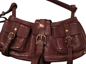 Burberry Vintage Leather Knight Logo's Made In Italy Shoulder Bag