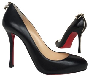 Christian Louboutin Sokate Kate Glitter Stiletto Pointed Toe Black Pumps