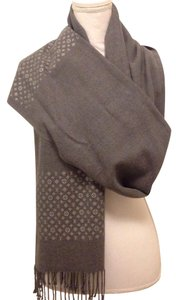 Louis Vuitton LV design gray scarf