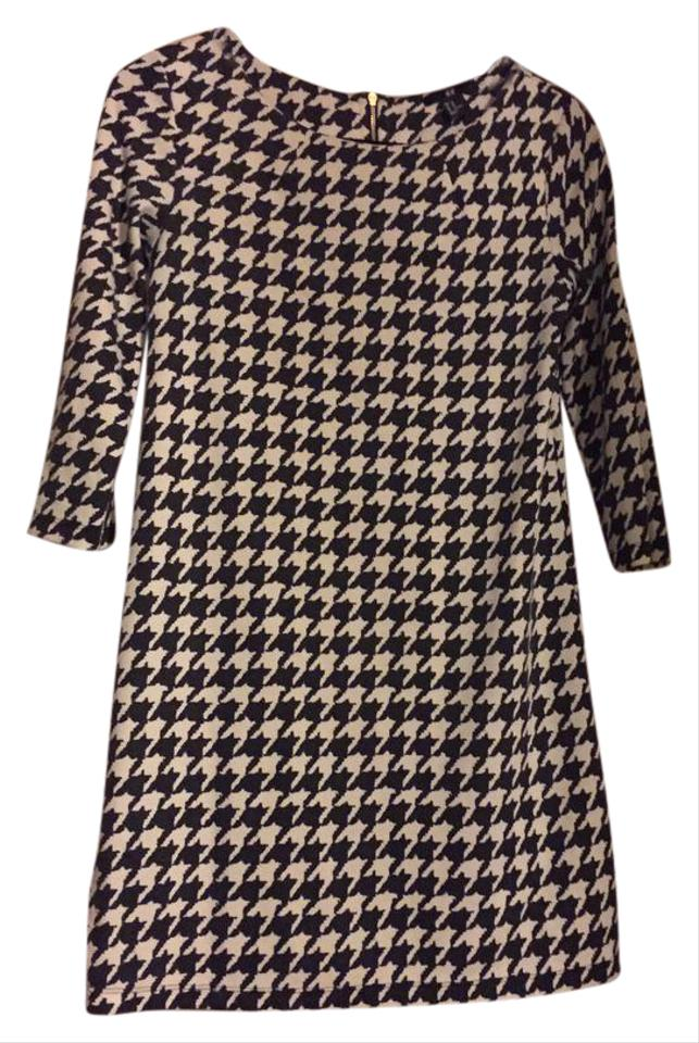 f4777ab57ae2f3 H M Black and White Houndstooth Short Casual Dress Size 2 (XS) - Tradesy