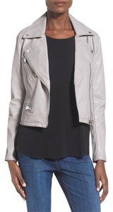 BlankNYC Moto Grey Faux Leather Motorcycle Jacket