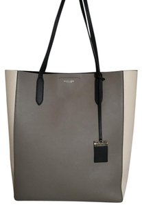 Michael Kors Collection Dust Mk High End Line Tote in Black,cream,taupe
