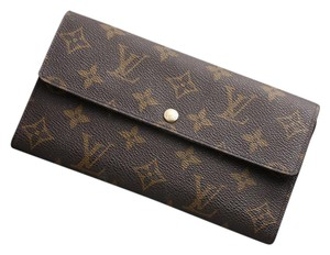 Louis Vuitton K249 Monogram Sarah Long Wallet Coin Purse