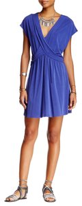 Free People Cap Sleeve V-neck Draped Flowy Stretchy Dress
