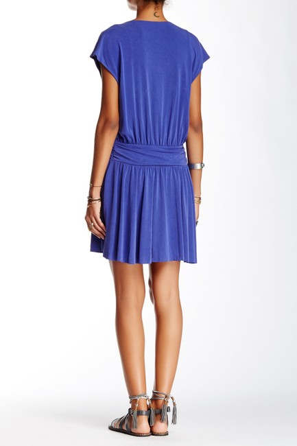 Free People Cap Sleeve V-neck Draped Flowy Stretchy Dress Image 1