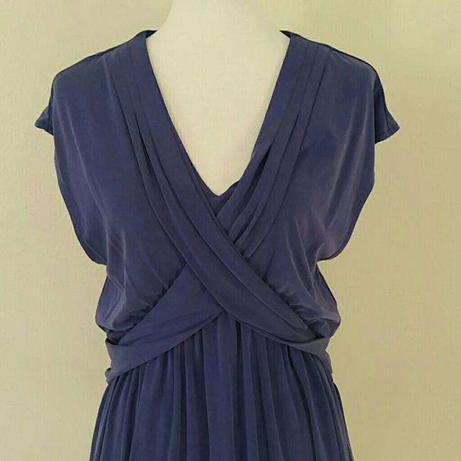 Free People Cap Sleeve V-neck Draped Flowy Stretchy Dress Image 5