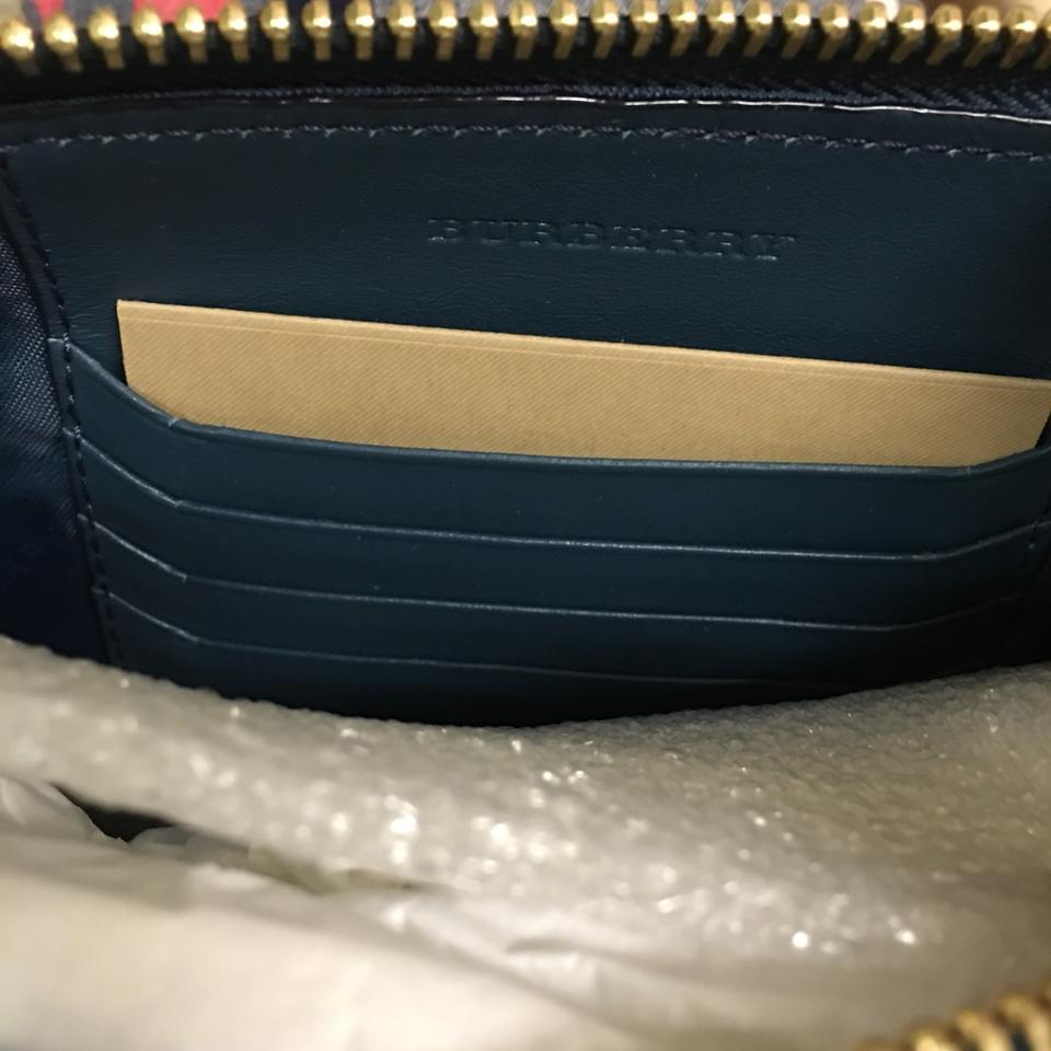 c69ec5e3660d Burberry Peyton Marine Blue Suede Cross Body Bag - Tradesy