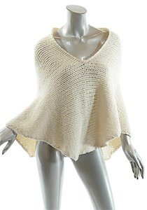 Cividini CIVIDINI Cashmere Ivory Cashmere Blend V-neck Cape/Sweater