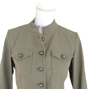 Talbots Green Military Style Blazer Sweater