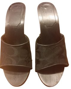 Coach Logo black Mules