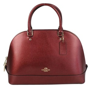 Coach Set Gift Set Matching Set Shimmery Satchel in Burgundy