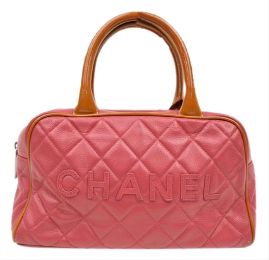 Preload https://item1.tradesy.com/images/chanel-quitled-caviar-skin-boston-bowler-rose-leather-tote-20526165-0-1.jpg?width=440&height=440