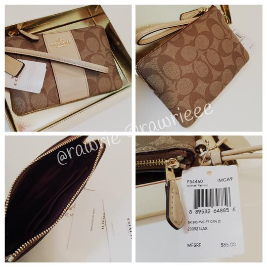Coach Gift Box Box Monogram Patent Leather Neutral Wristlet in Beige Image 1