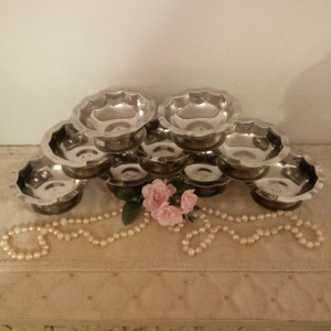 9 Stainless Cups For Decorating ~ Vintage Shabby Chic