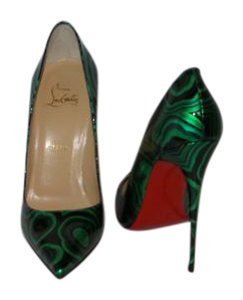 Christian Louboutin Brand New In Box GREEN AND BLACK Pumps