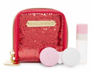 Betsey Johnson New Red Glitter Contact Case, BJ55325P