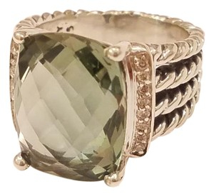 David Yurman Wheaton Ring With 16x12mm prasiolite And Diamonds