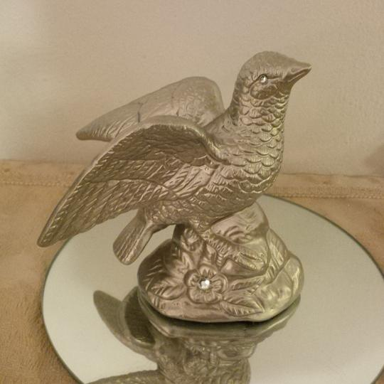 Champagne Gold Birds Cake Topper Or Many Uses Reception Decoration Image 1