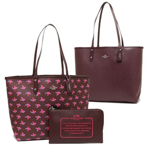 Coach Travel Oversized Large Multifunction Multicolor Tote in Burgundy