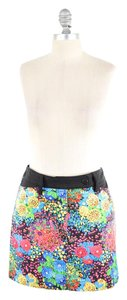 Balenciaga Bright Floral Stretch Mini Mini Skirt Colorful