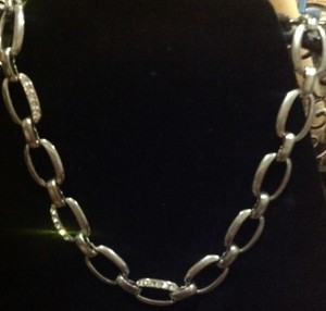Other chain link with rhinestone necklace