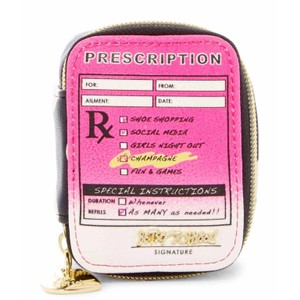 Betsey Johnson New RX Crazy Pill Case, Polka Dot, BS40605P
