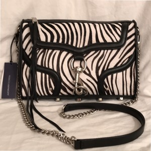 Rebecca Minkoff New/nwt Leather Zebra Calfhair Clutch Cross Body Bag